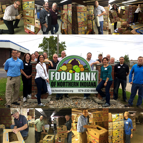 giving back at the Food Bank of Northern Indiana
