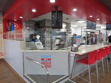 Interior view of a Domino's in Indiana built with modular construction